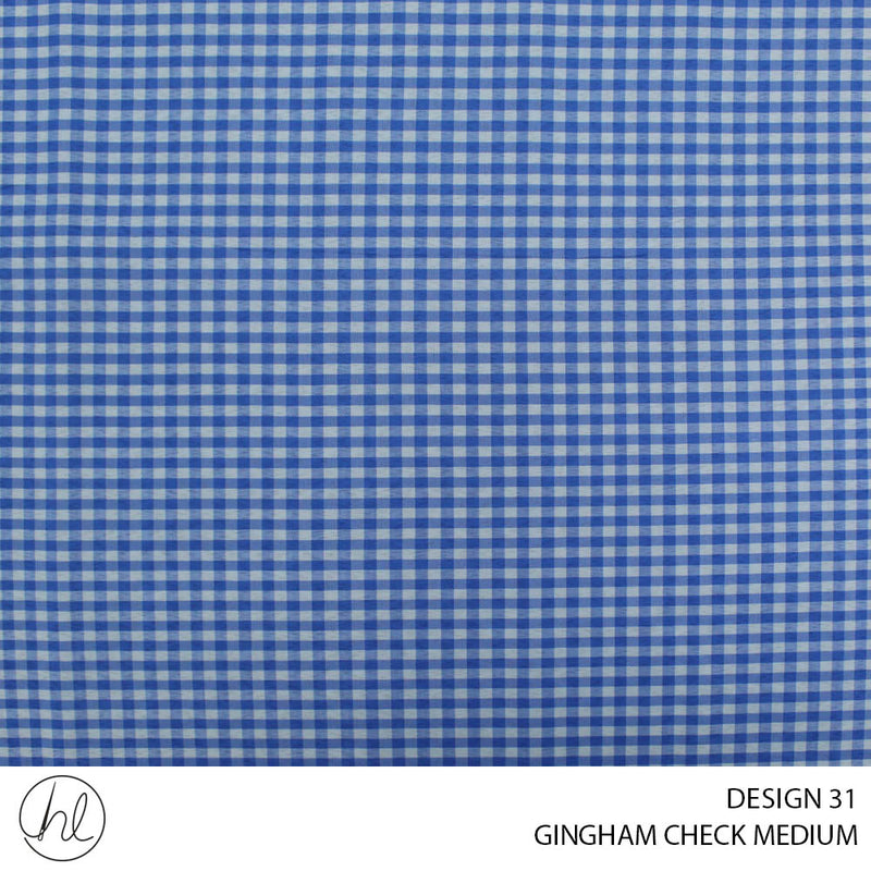 GINGHAM CHECK MEDIUM (DESIGN 31) (150CM) (PER M)51