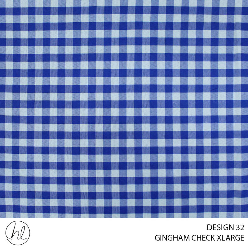 GINGHAM CHECK XLARGE (DESIGN 32) (150CM) (PER M)51