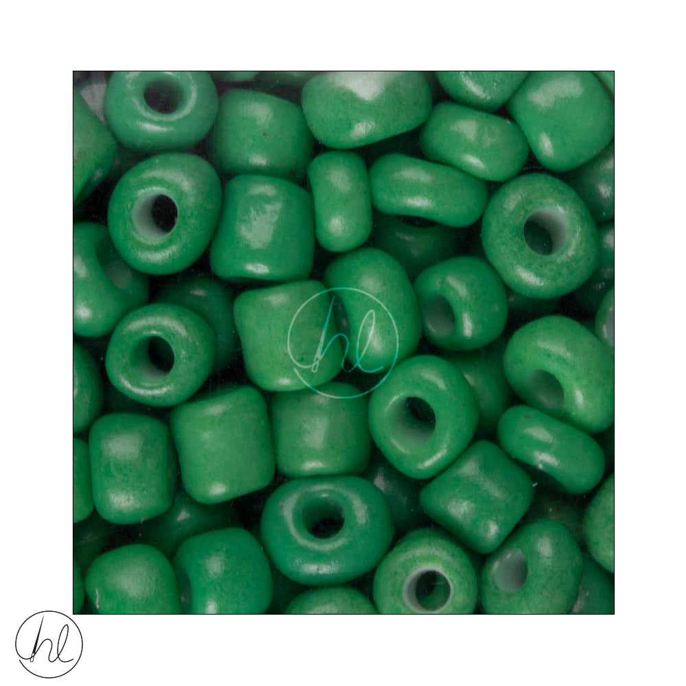 GLASS BEAD BULK GREEN (5MM)