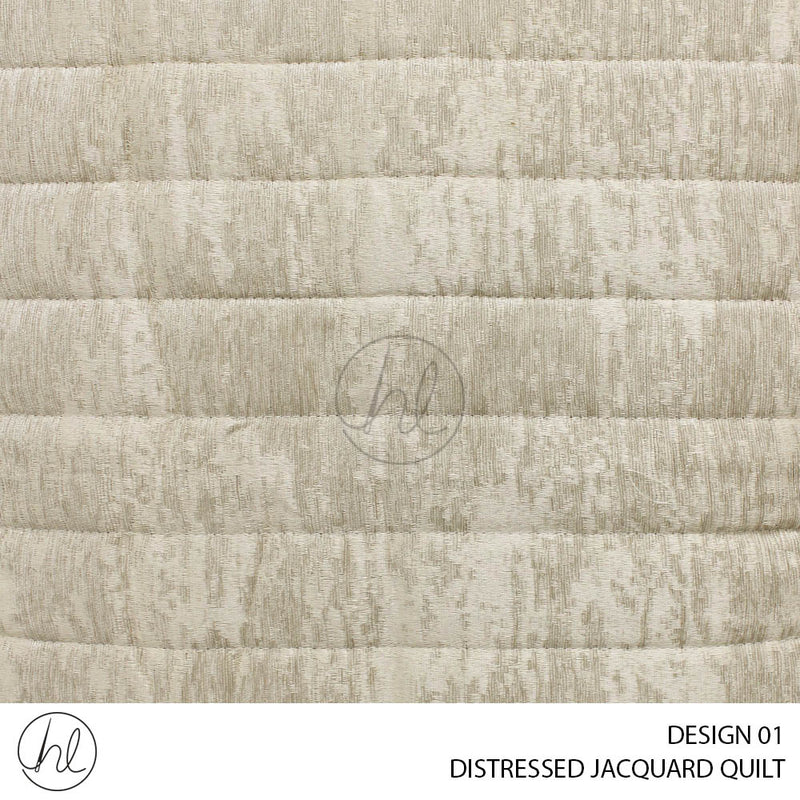 DISTRESSED JACQUARD QUILT (220X220) (DESIGN 01) (PILLOWCASES NOT INCLUDED)
