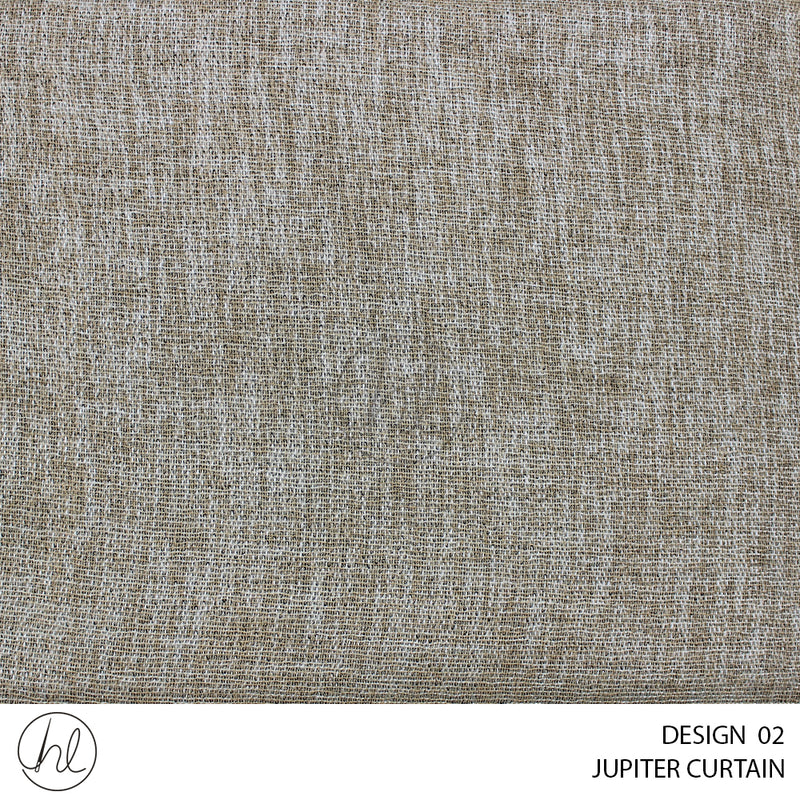 JUPITER READY-MADE CURTAIN (230X218) (BEIGE) (DESIGN 02)