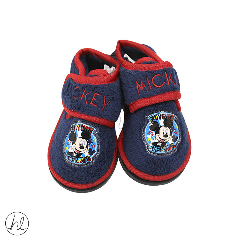 MICKEY MOUSE VELCRO SLIPPERS