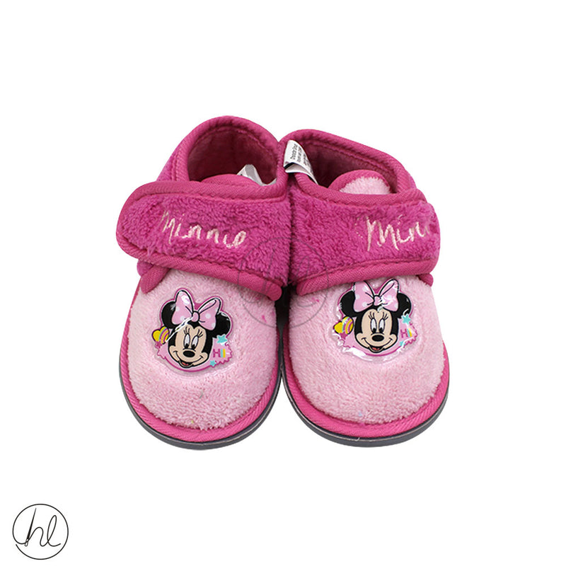 MINNIE MOUSE VELCRO SLIPPERS
