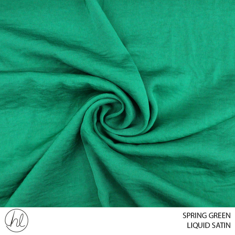 LIQUID SATIN (SPRING GREEN) (150CM WIDE) (PER M)51