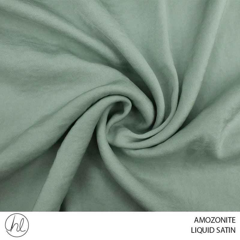 LIQUID SATIN (AMAZONITE) (150CM WIDE) (PER M)51