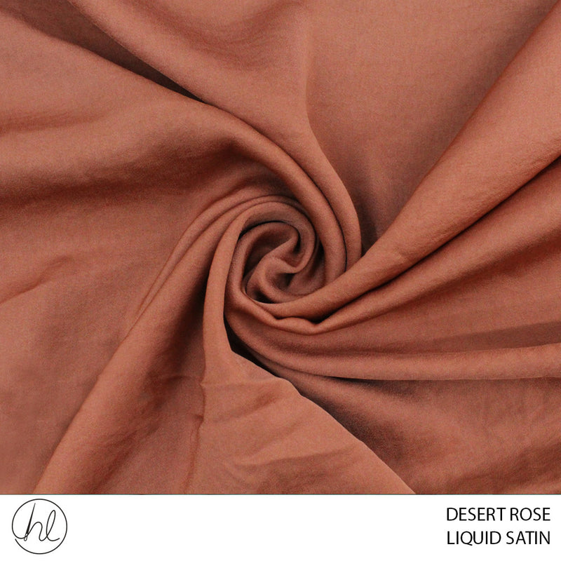 LIQUID SATIN (DESERT ROSE) (150CM WIDE) (PER M)51