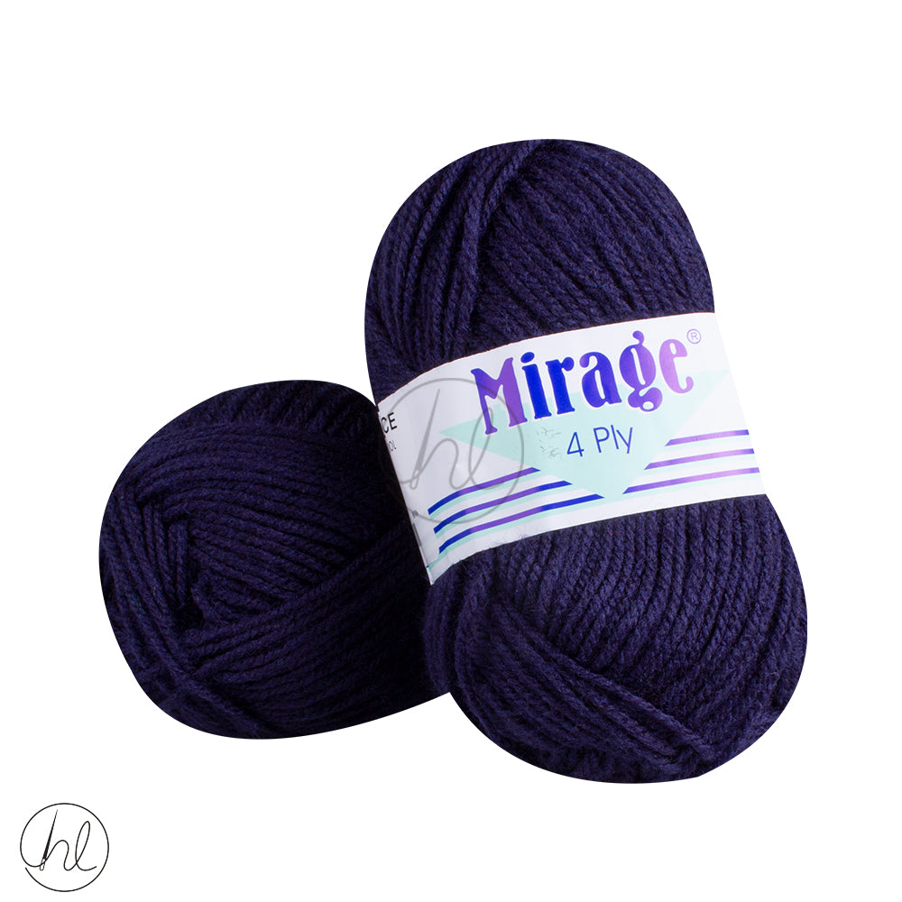 MIRAGE 4PLY WOOL 25G NAVY