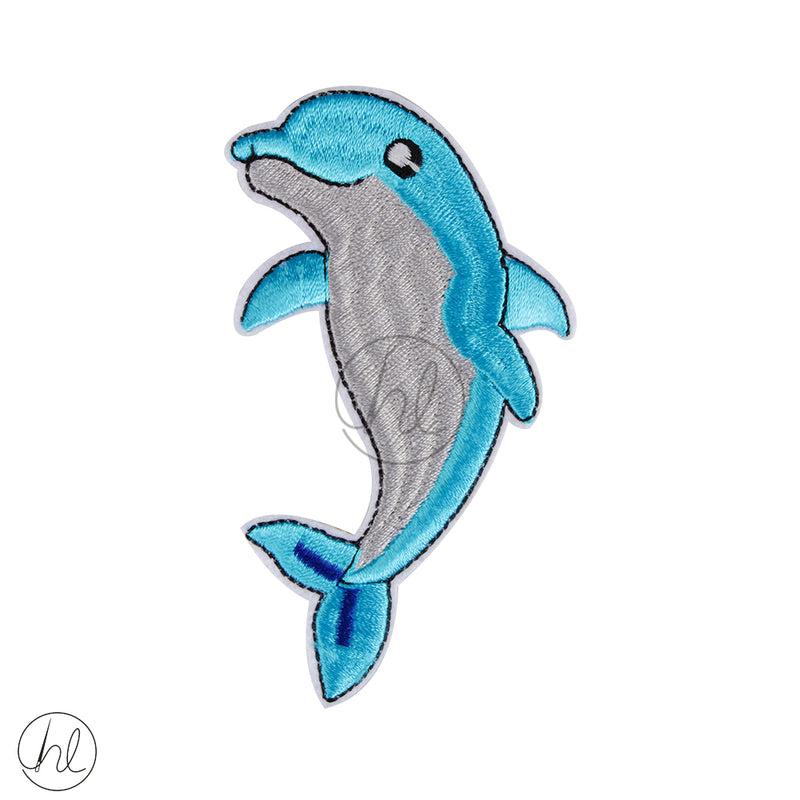 MOTIF DOLPHIN BADGE-B