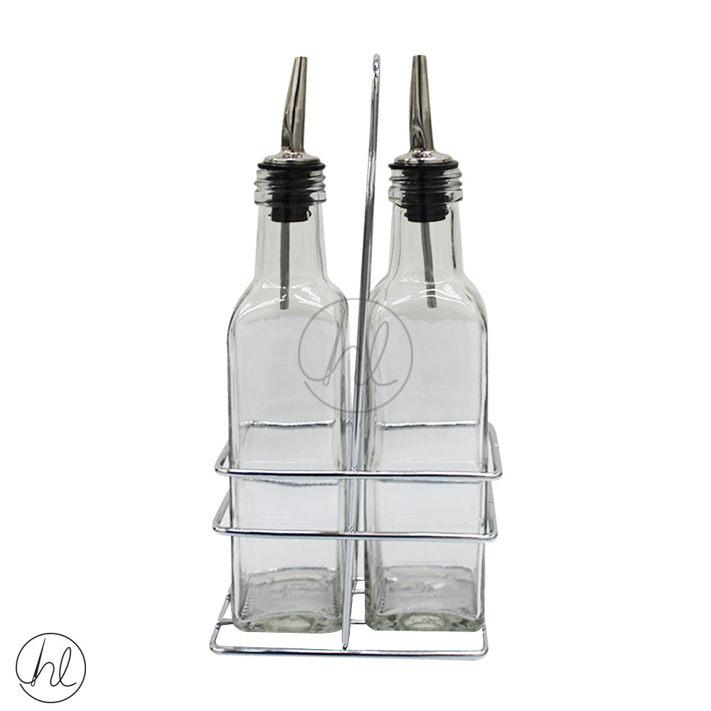 250ML OIL AND VINEGAR AND BOTTLE STAND