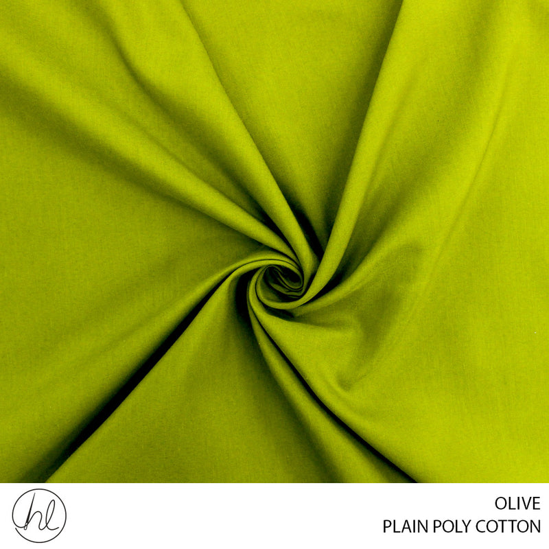 PLAIN POLY COTTON (OLIVE) (112CM) (PER M)67