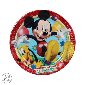 8PC MICKEY MOUSE PAPER PLATES (23CM) 81508