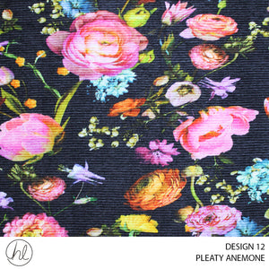 PLEATY ANEMONE (DESIGN 12) (150CM) (PER M)