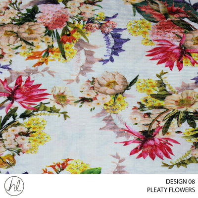 PLEATY FLOWERS (DESIGN 08) (150CM) (PER M)
