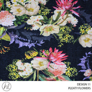 PLEATY FLOWERS (DESIGN 11) (150CM) (PER M)
