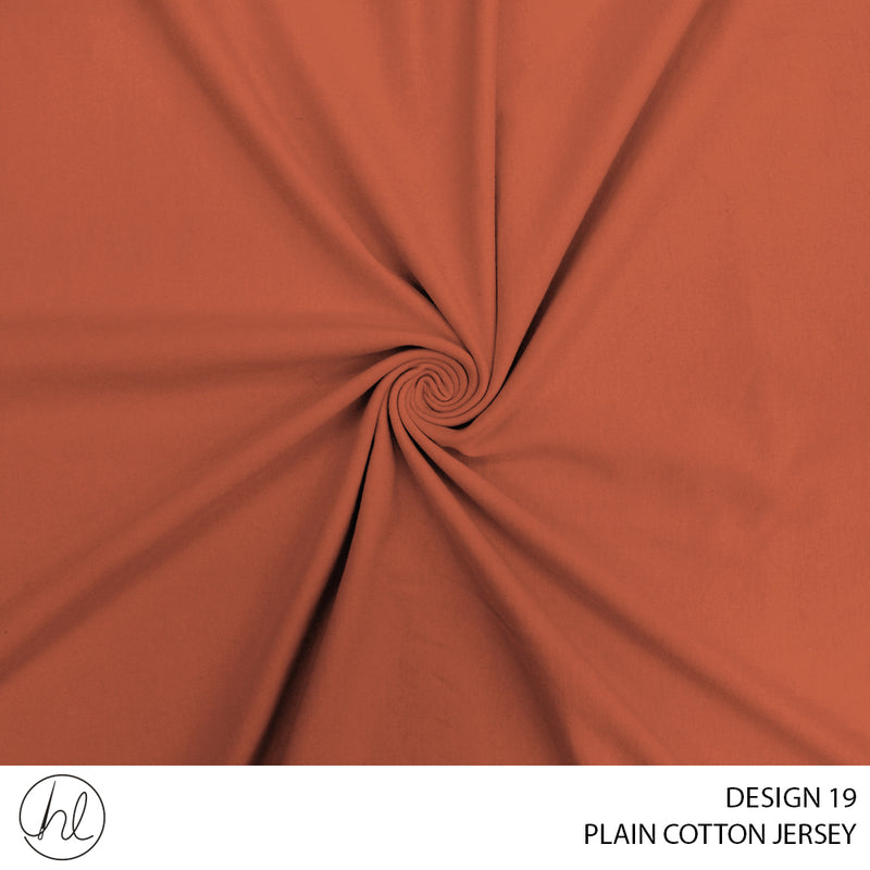 100% PLAIN COTTON JERSEY (DESIGN 19) (150CM) (PER M)51