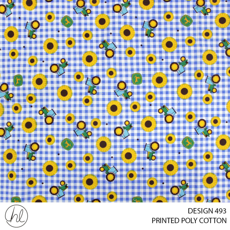 PRINTED POLY COTTON (DESIGN 493) (112CM) (PER M)55
