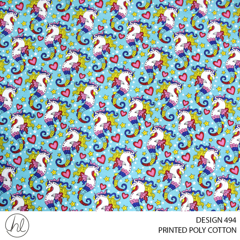 PRINTED POLY COTTON (DESIGN 494) (112CM) (PER M)55
