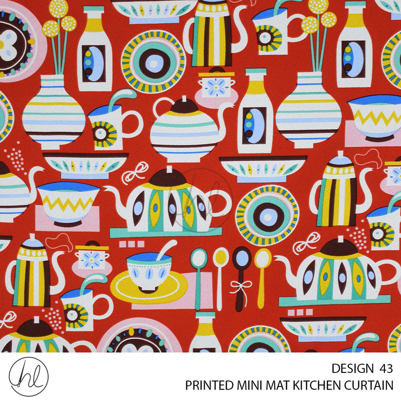 PRINTED MINI MAT KITCHEN CURTAIN (280X120) (DESIGN 43)