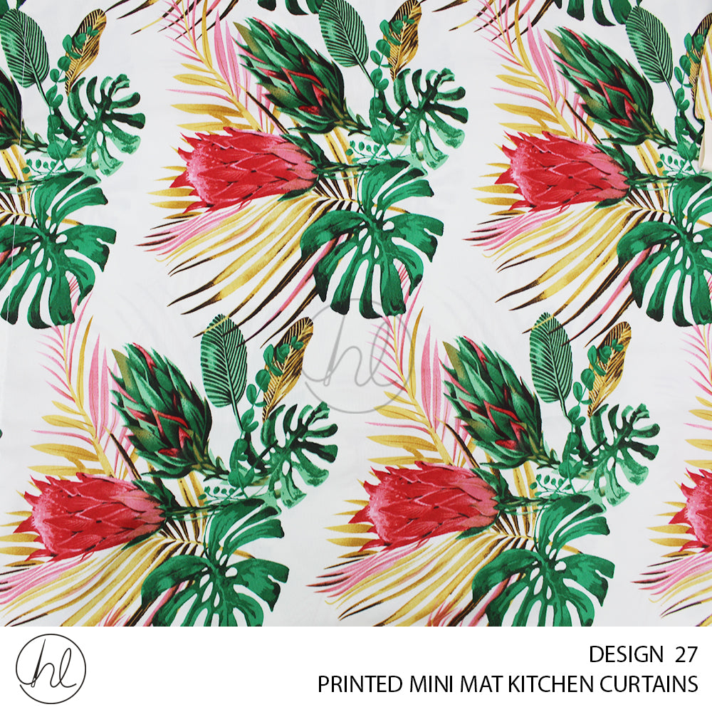 PRINTED MINI MAT READY-MADE KITCHEN CURTAIN (DESIGN 27) (280X120)