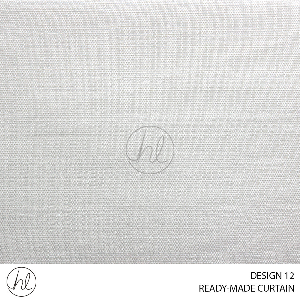 READY-MADE CURTAIN (230X218) (OFF-WHITE) (DESIGN 12)
