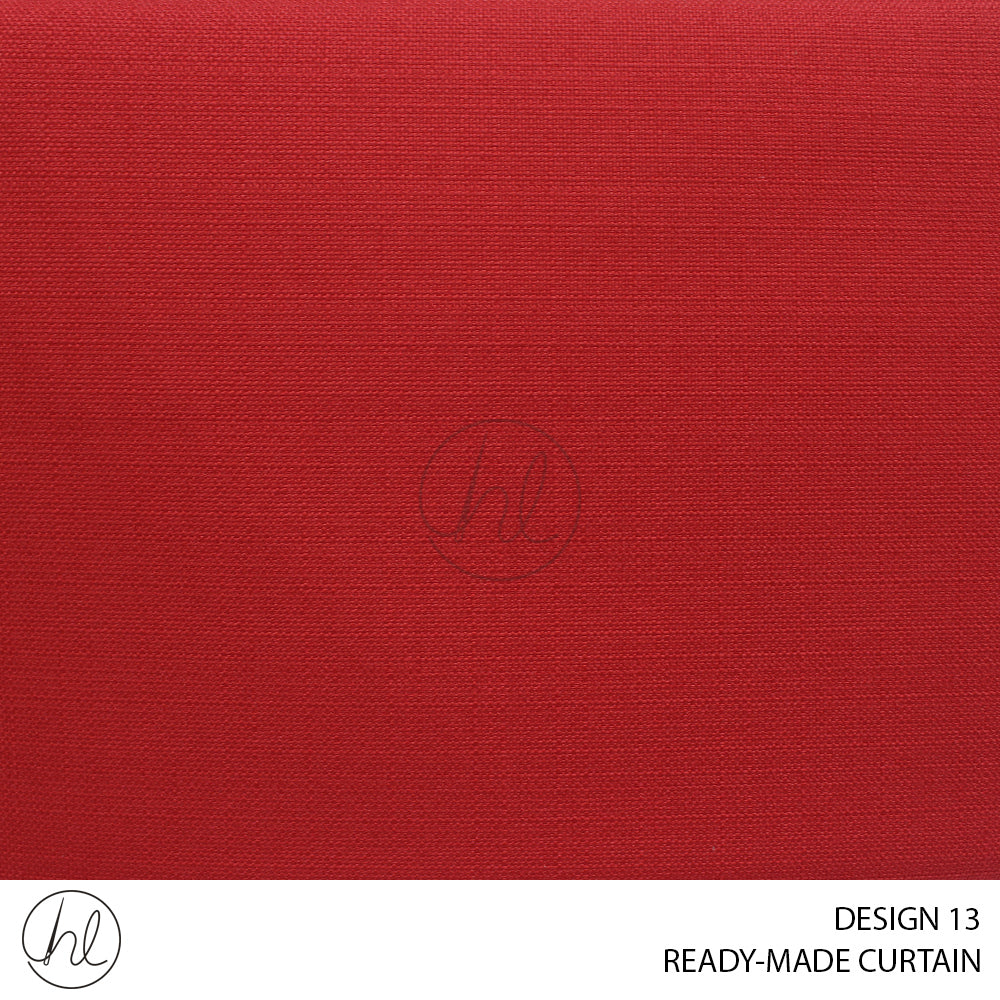 READY-MADE CURTAIN (230X218) (RED) (DESIGN 13)