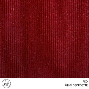 SHINY GEORGETTE (RED) (150CM) (PER M)
