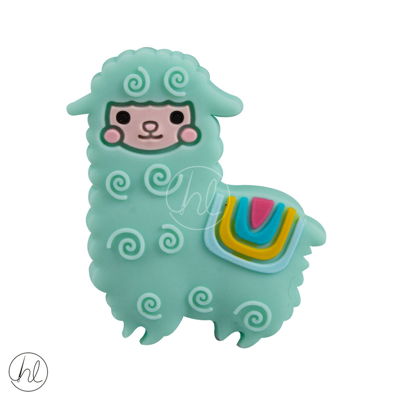 SILICONE BEAD SMALL LAMA MINT