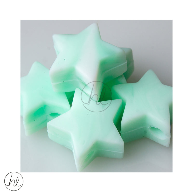 SILICONE STAR MARBLE MINT 5 PER PACK