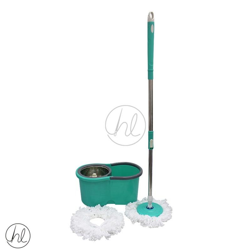 ROTATING STEEL MOP AND BUCKET