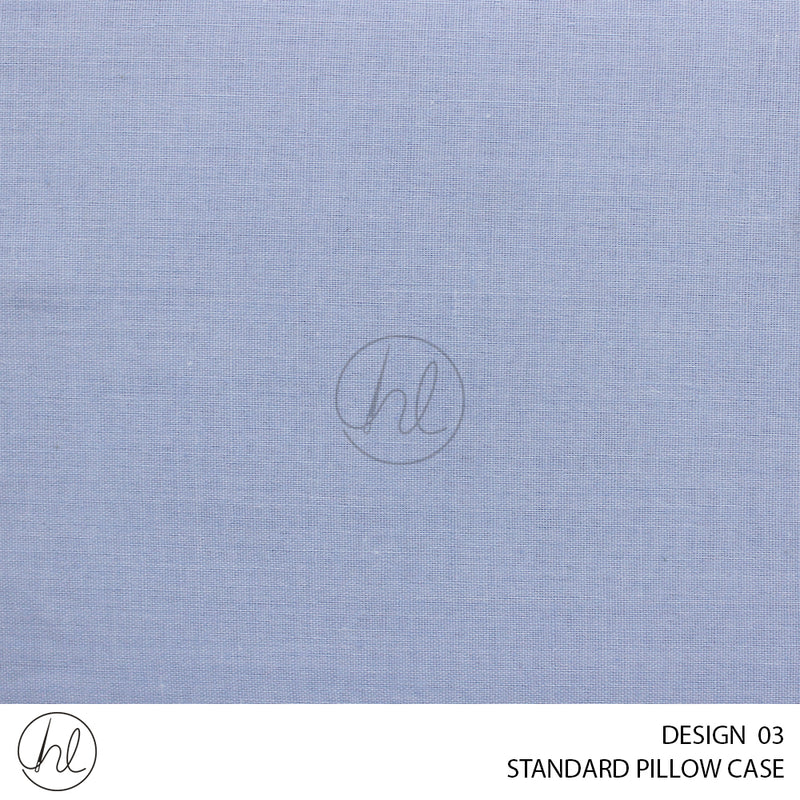 POLY COTTON STANDARD PILLOW CASES (45X70CM) (DESIGN 03)
