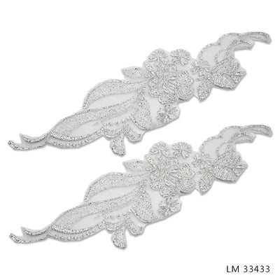 UNBEADED BRIDAL MOTIFS - LM 33433 - SILVER 01