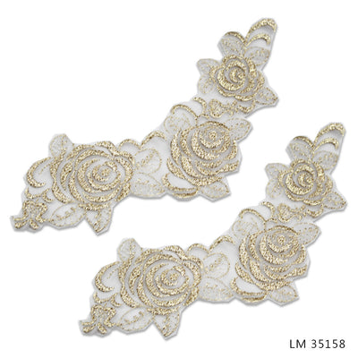 UNBEADED BRIDAL MOTIFS - LM 35158 - GOLD