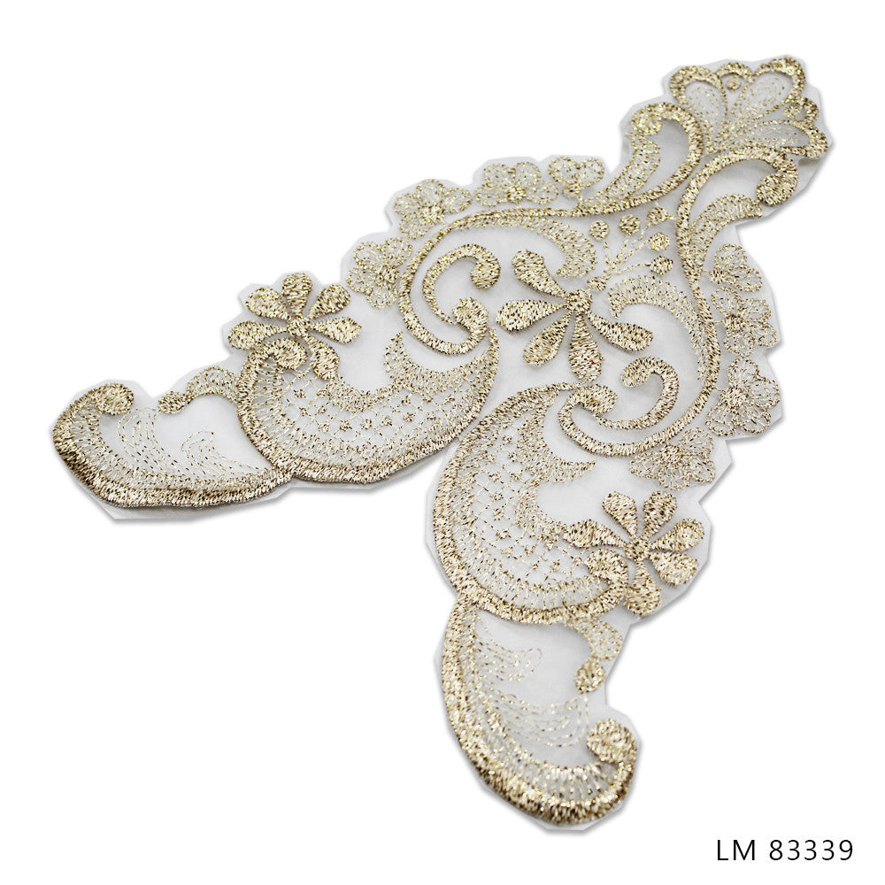 UNBEADED BRIDAL MOTIFS - LM 83339 - GOLD