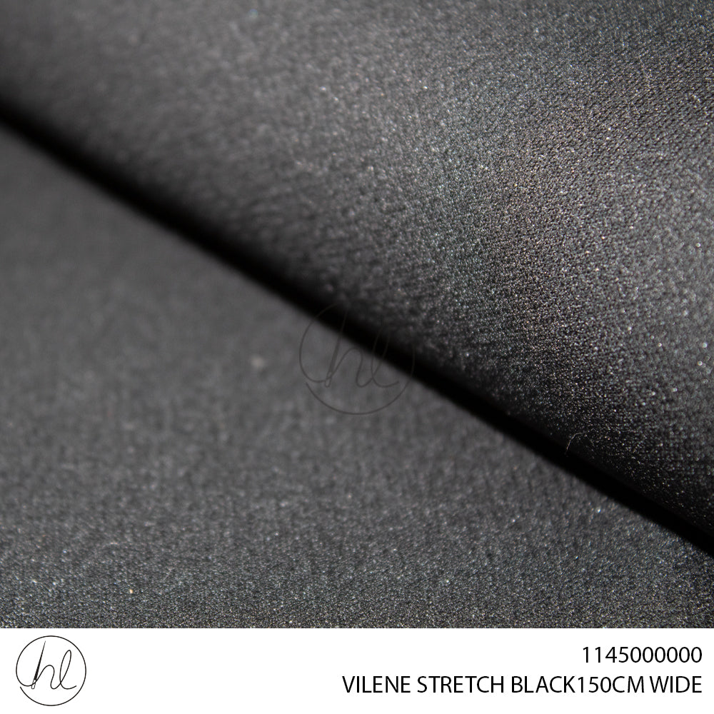 VILENE STRETCH (150CM) (BLACK) (P/METER)