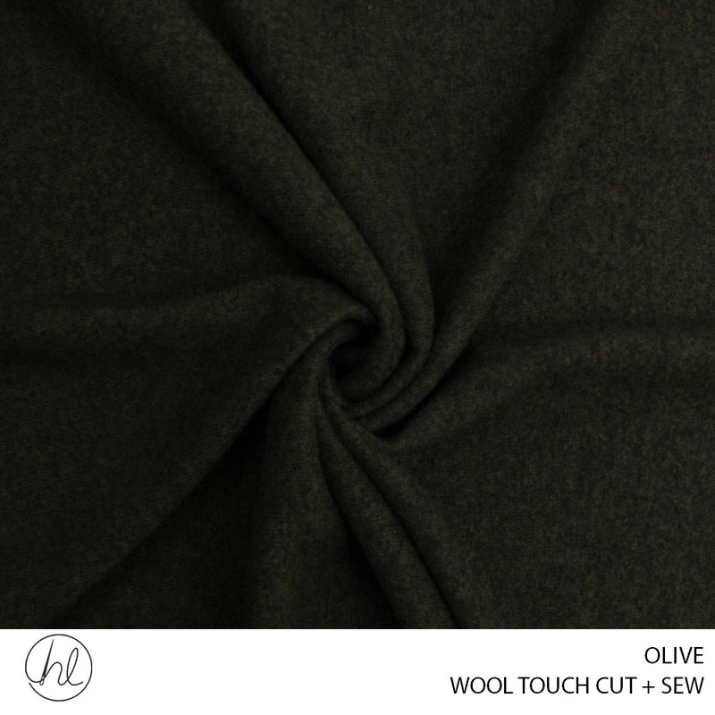 WOOL TOUCH CUT + SEW (OLIVE) (150CM WIDE) (PER M)56