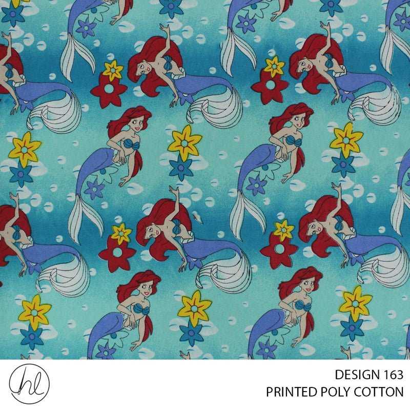 PRINTED POLY COTTON (DESIGN 163) (112CM) (PER M)55