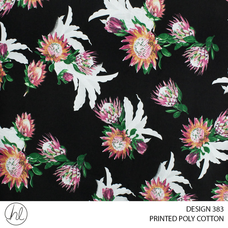 PRINTED POLY COTTON (DESIGN 383) (112CM) (PER M)55
