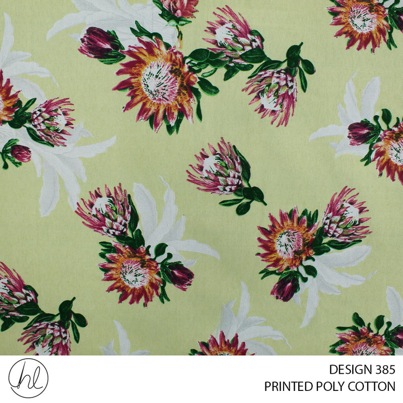 PRINTED POLY COTTON (DESIGN 385) (112CM) (PER M)55
