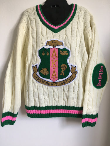 Alpha Kappa Alpha Long Sleeve V-Neck Sweater