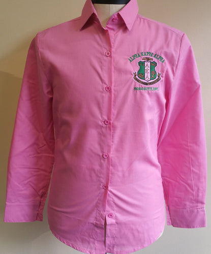 Alpha Kappa Alpha Buttondown
