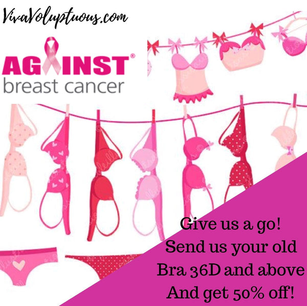'Give our Bras a Go' with 50% off in support of Against Breast Cancer charity!