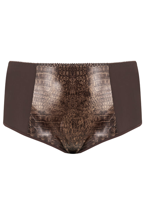 Chocolate brown Plus Size Briefs