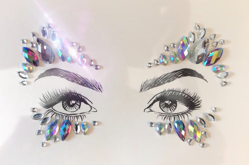 Glitter Eyes, Rainbow AB Crystal Rhinestones face jewels No. 3