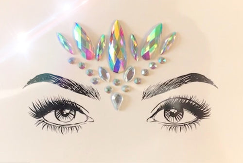 Glitter Eyes Rhinestone Crystal face jewels No. 12