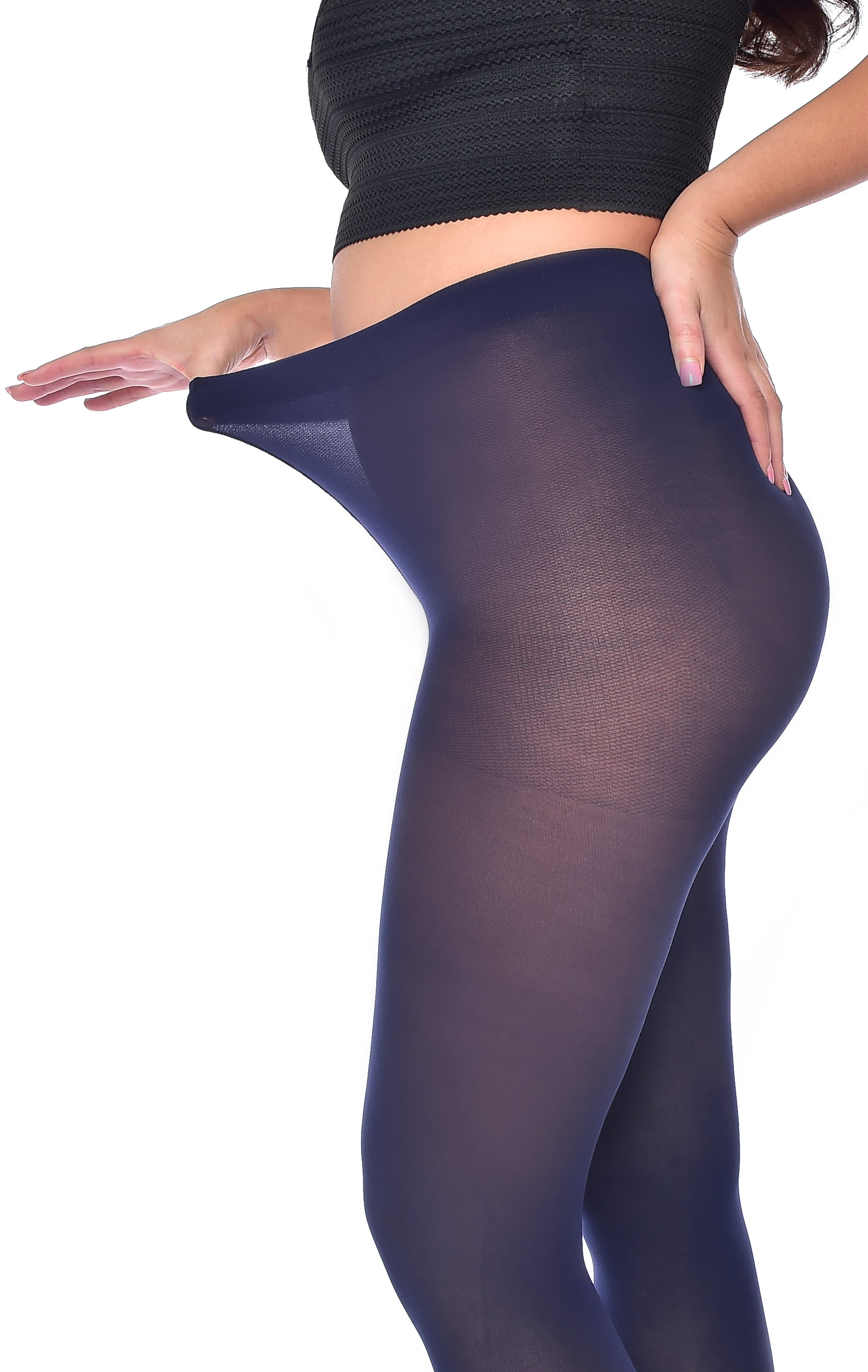 Navy 50 Denier Plus size Curvy Tights