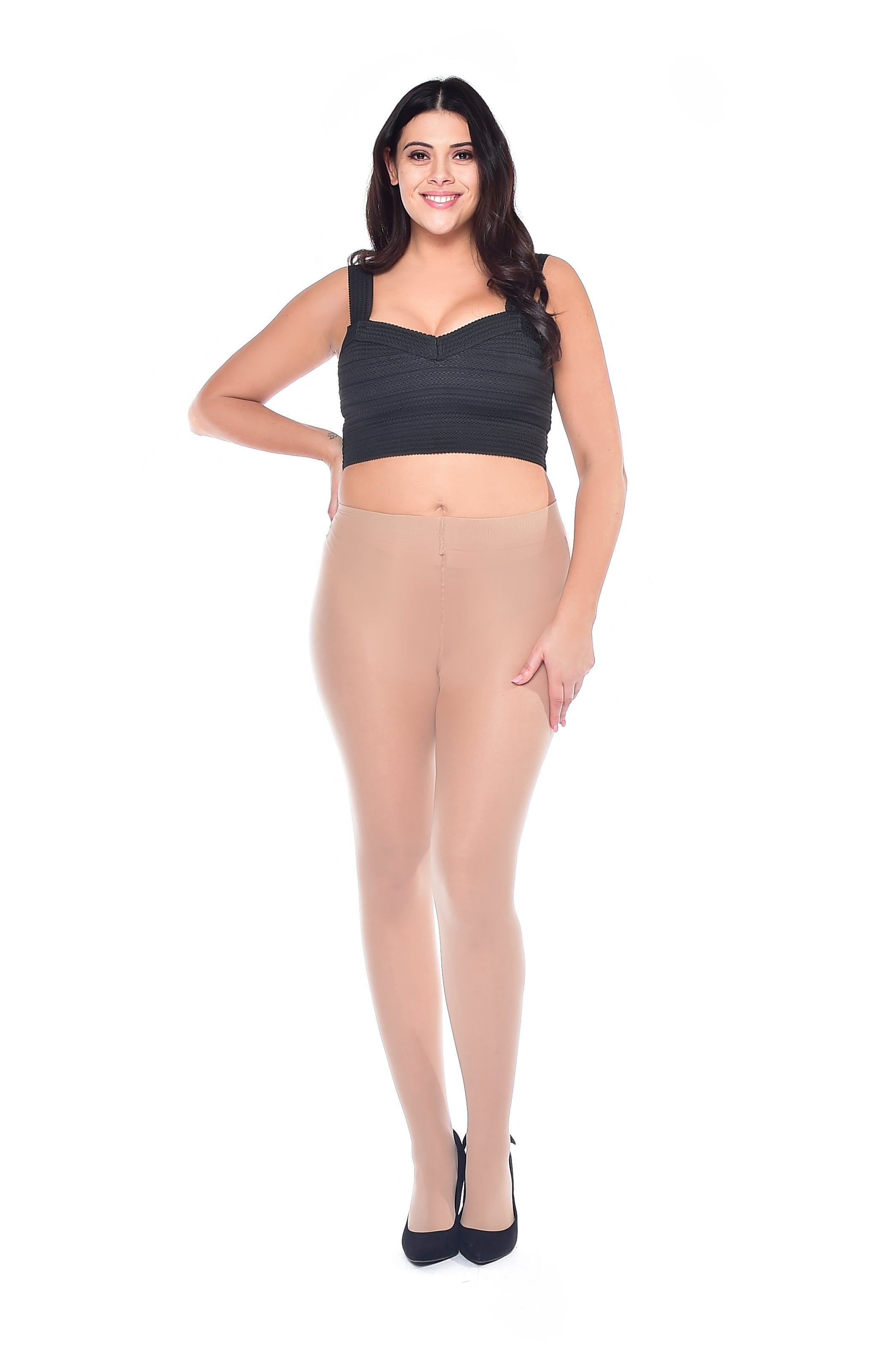Vanilla Sheer plus size Curvy tights 20 Denier