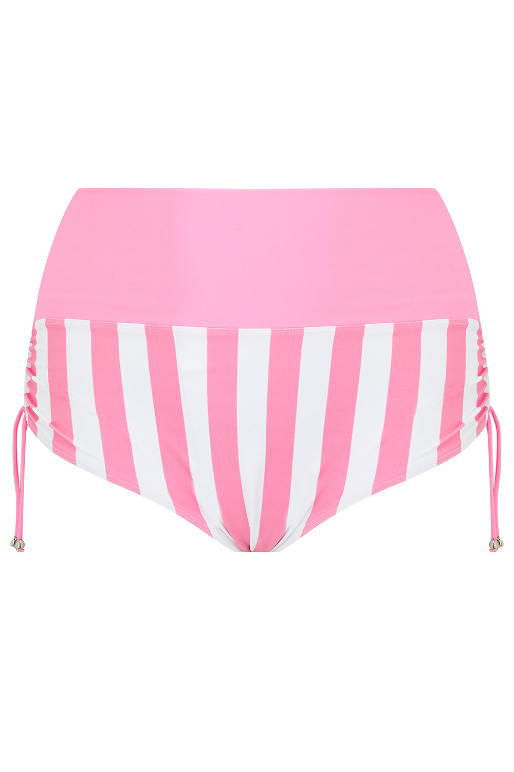 Pink Candy Stripe Plus Size Bikini Bottoms Briefs