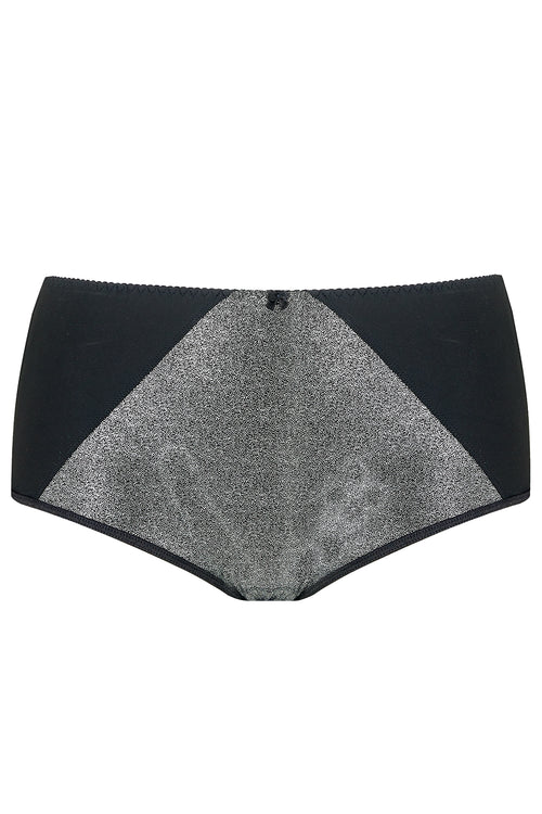 SILVER SPARKLY PLUS SIZE BRIEFS