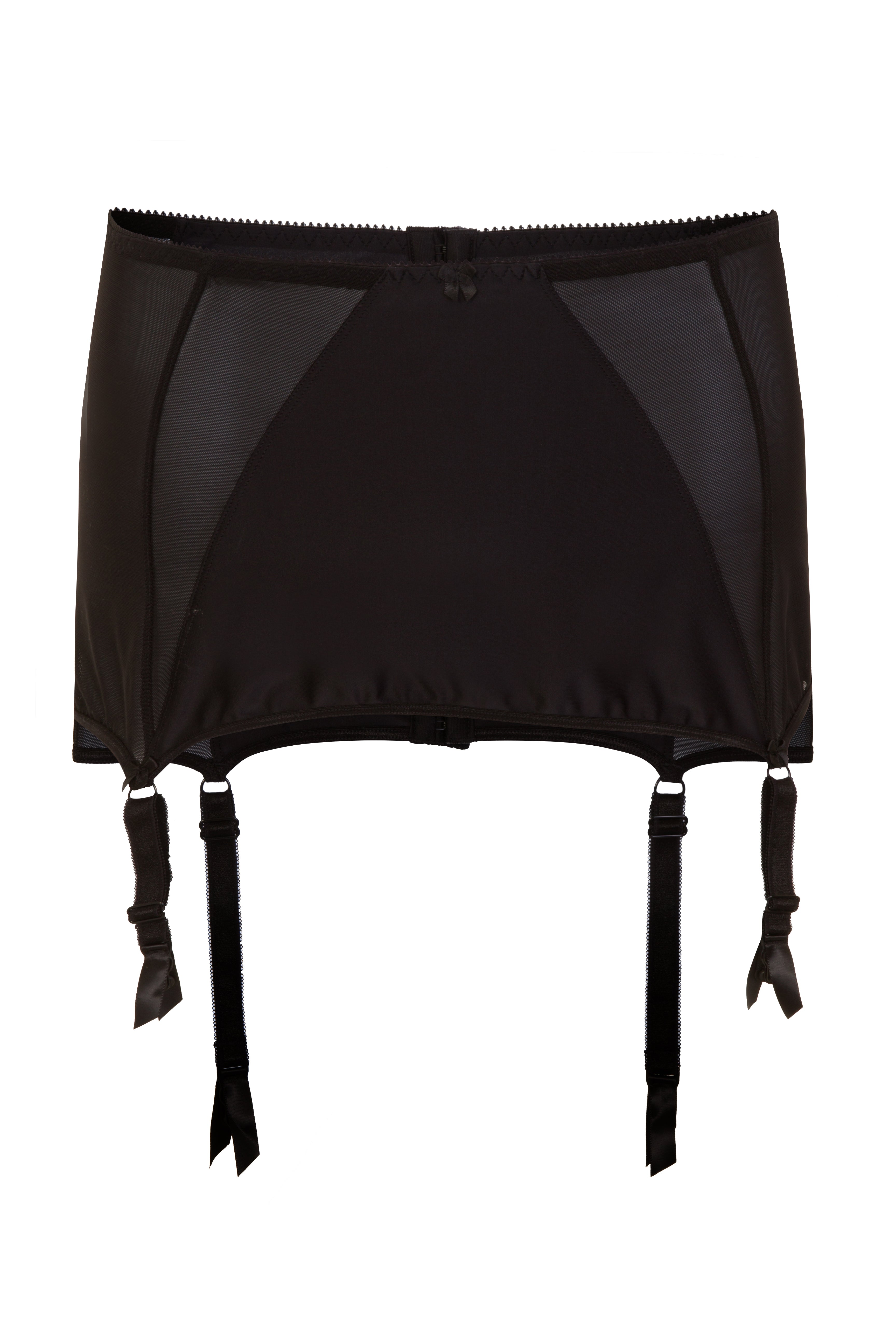 Black Wide Plus Size Suspender Garter belt