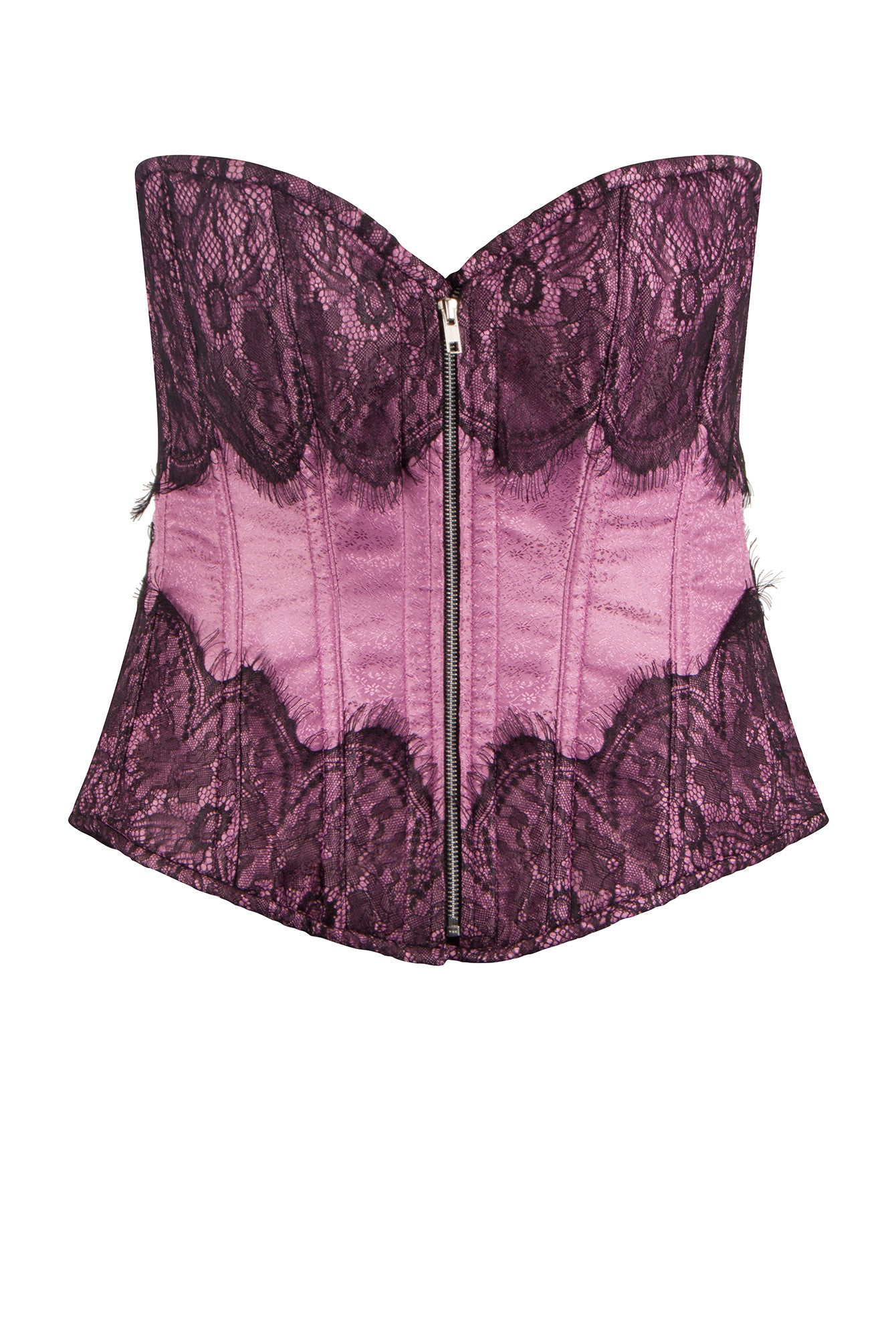 Wine Red Plus Size Corset Basque Bustier Overbust